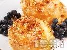 Рецепта Печени ябълки в бутер тесто с бадеми